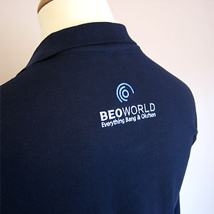 BeoWorld Long Sleeve Polo - Dark Blue - Size S