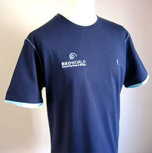BeoWorld T-Shirt - Navy/Sky - Size M